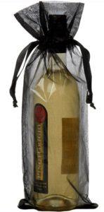 Sachet organza pour bouteille noir