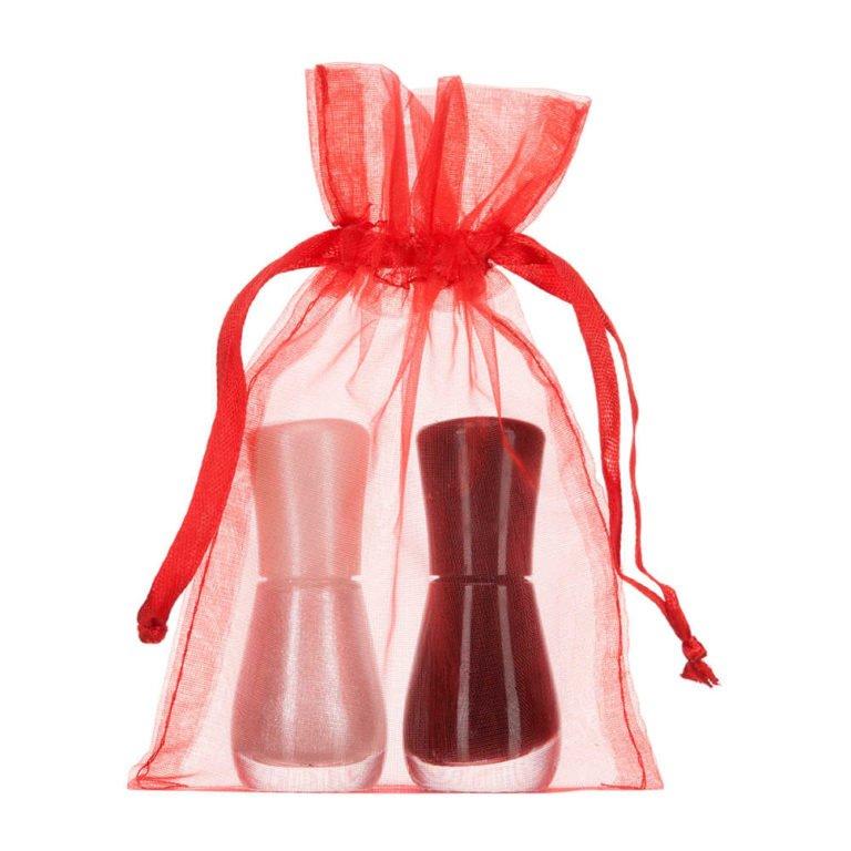 Petit sacs en organza 10x15cm rouge