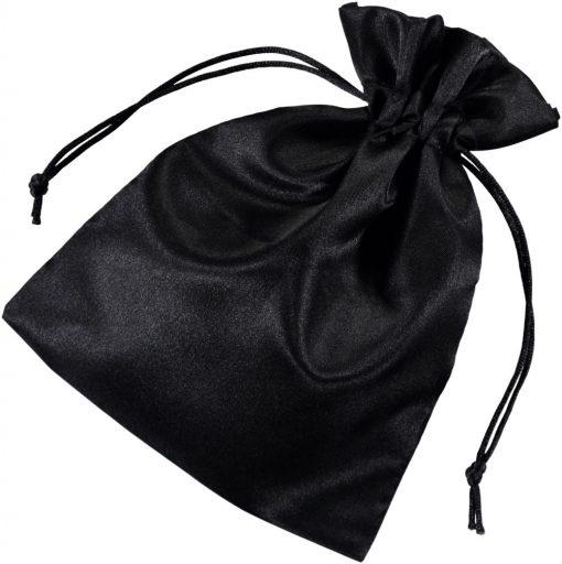 Pochette satin noir 15x20cm 2.0