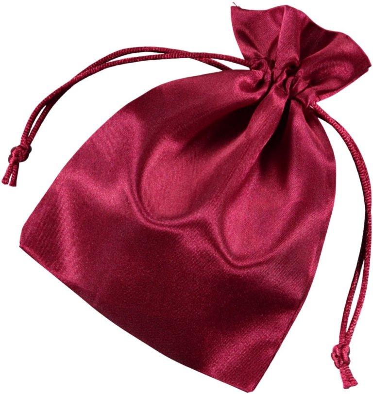 Pochette satin rouge 10x15cm 2.0