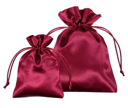Pochette satin rouge