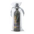 Sachets organza pour bouteille 15x38cm argent