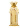 Sachets organza pour bouteille 15x38cm or