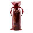 Sachets organza pour bouteille15x38cm bordeaux red
