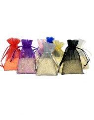 petit sacs organza 7x12cm various colours