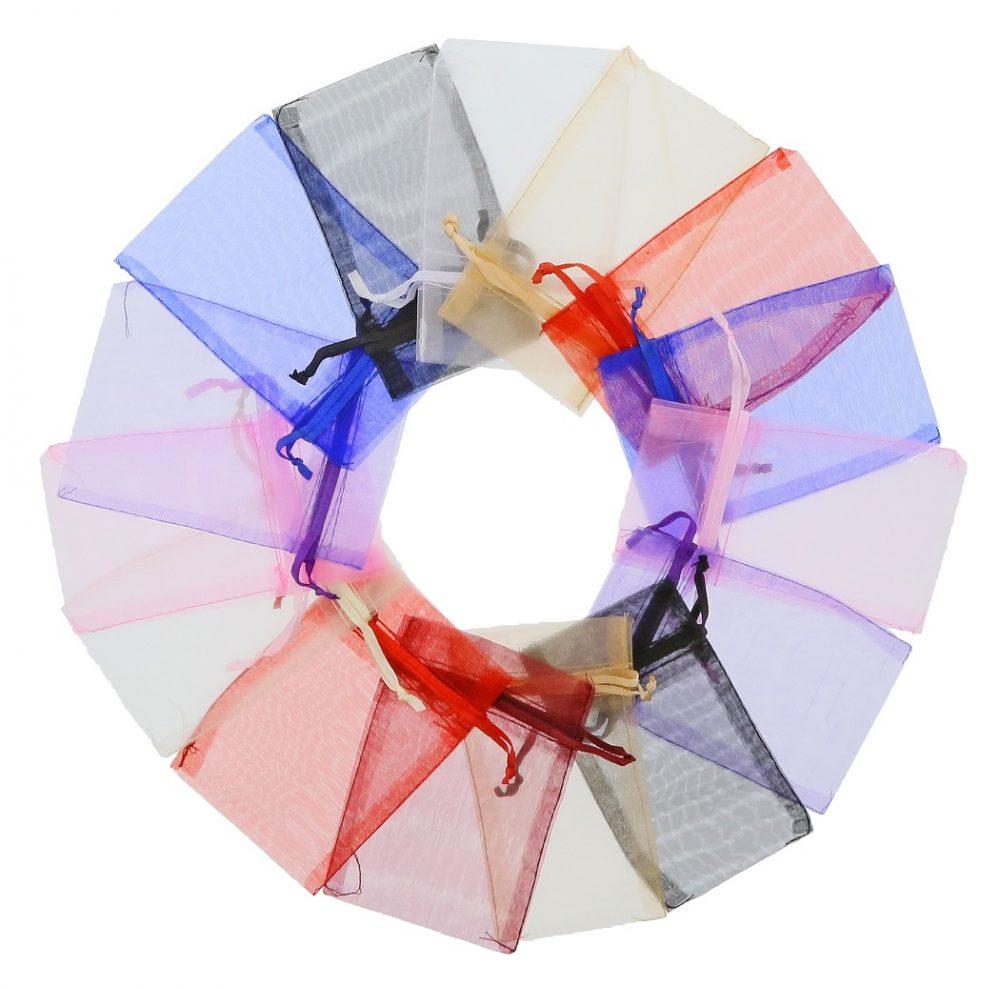 organza sacs 7x12cm couleurs mélangées (3)