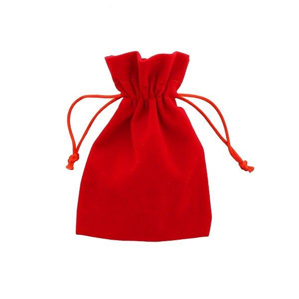 pochette velours rouge 10x15cm