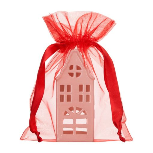 grand sac enorganza rouge 20x28cm