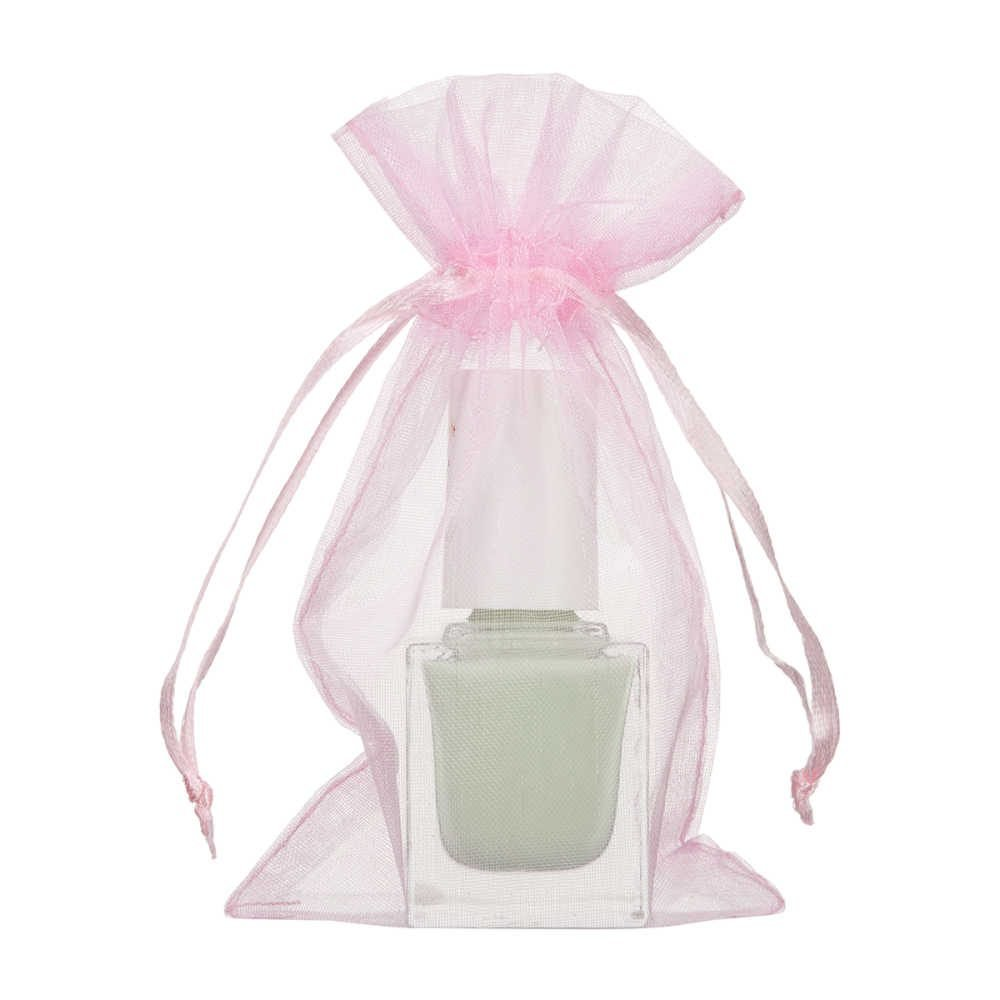 mini sac organza 7x12cm rose