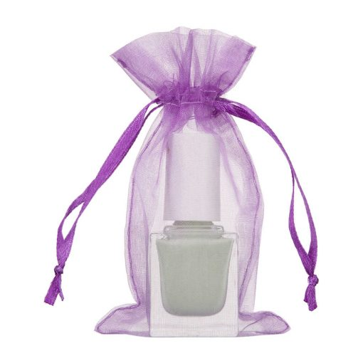 mini sac organza 7x12cm violet