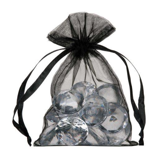 petit sac en organza 10x15cm noir