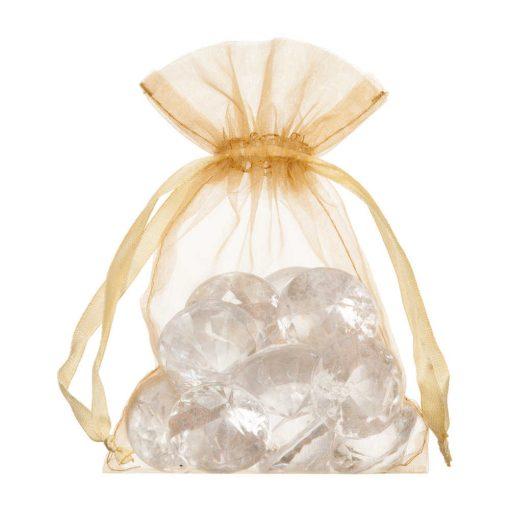 petit sac en organza 10x15cm or