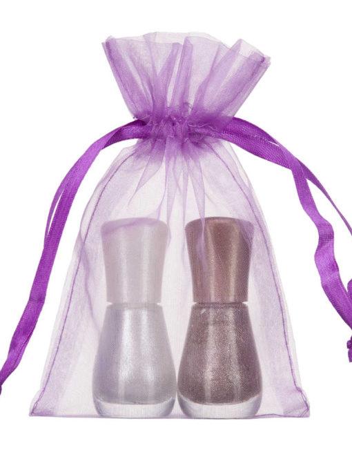 petit sac en organza 10x15cm violet