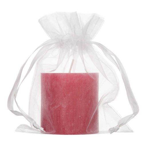sac en organza 15x20cm blanc