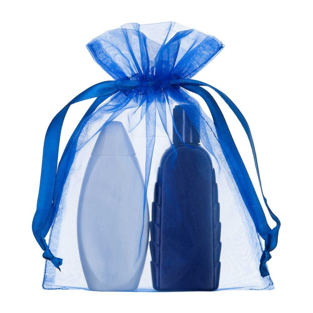 sac en organza 15x20cm blue