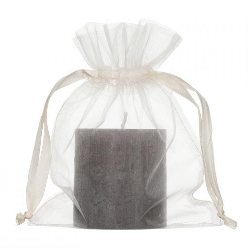 sac en organza 15x20cm creme