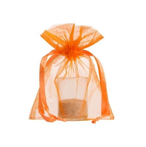 sac en organza 15x20cm orange