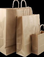 100 pièces Sac de Transport en Papier Marron, Cordon Torsadé