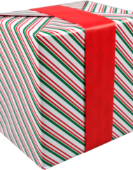 LOVLY® Papier cadeau Noël Rouleau Rouge-Vert, rouleau approx.200m long