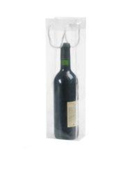 200 pièces Sac de Bouteilles de Vin Transparentes 10x9x38cm