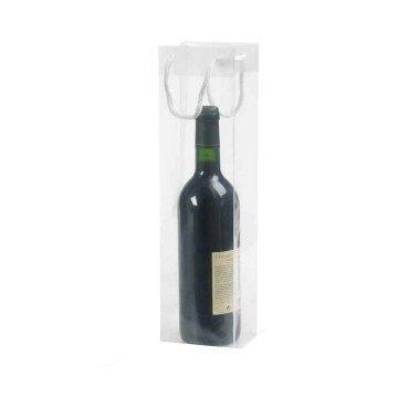 200 pieces Sac de Bouteilles de Vin Transparentes 10x9x38cm