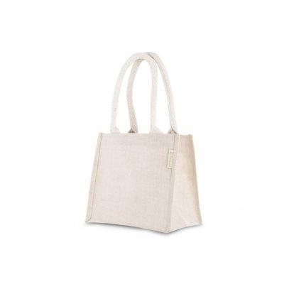 Petit sac-cadeau en jute 20x22x13 cm