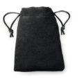 100 pcs Sac en Look Velours 8x10cm noir