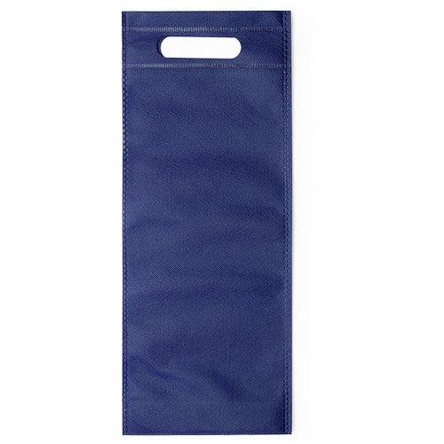 100 pièces Non-tissé Sac de Bouteille de Vin avec Poignée 16x40x16,5cm bleu
