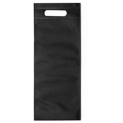 100 pièces Non-tissé Sac de Bouteille de Vin avec Poignée 16x40x16,5cm noir