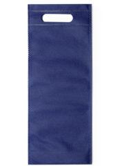 100 pièces Non-tissé Sac de Bouteille de Vin avec Poignée16x40x16,5cm bleu