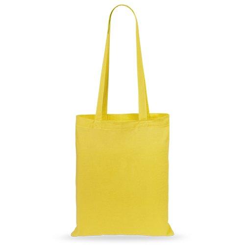 50 pcs Sacs en Coton 36x40cm jaune