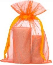 petit sac de organza 20x28cm orange
