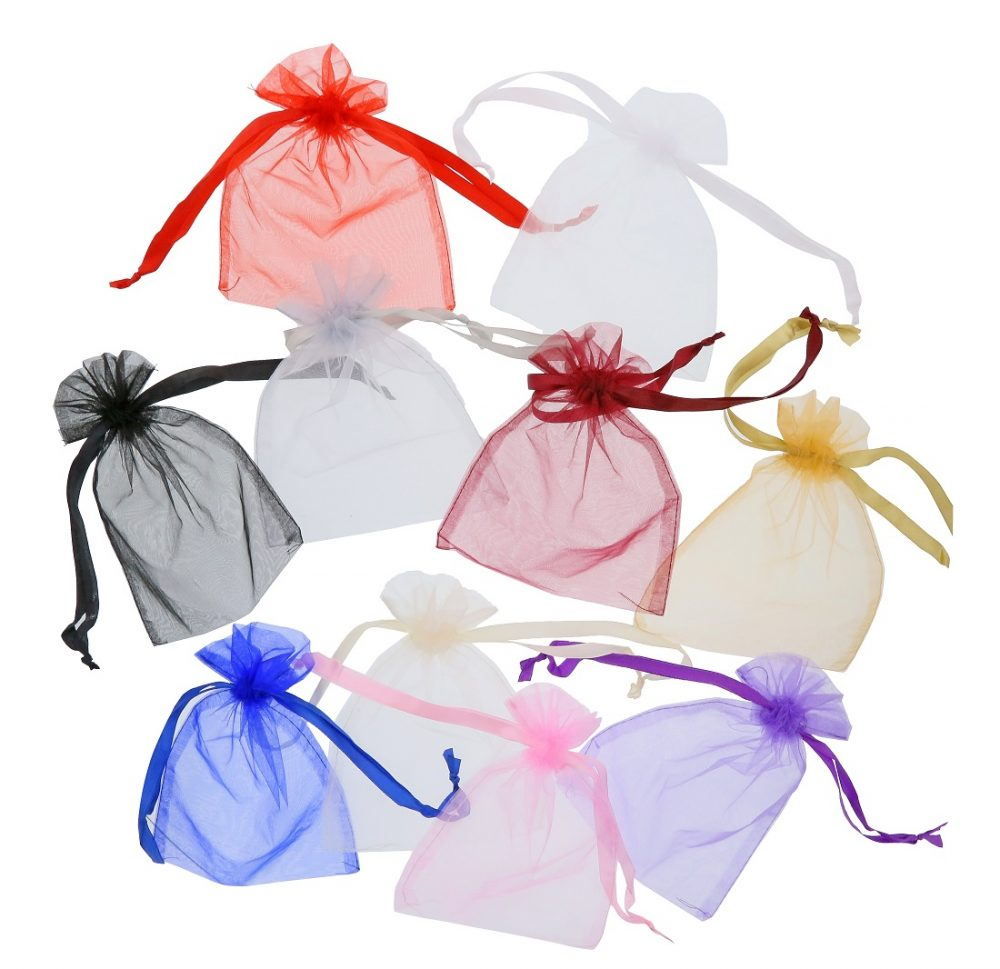 sacs organza 15x20cm colours melangees