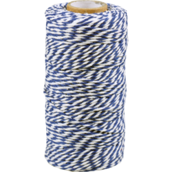 Cordon Coton différentes couleurs blue-blanc