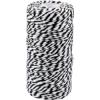Cordon Coton différentes couleurs noir-blanc 1,5mm x 100m
