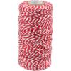 Cordon Coton différentes couleurs rouge-blanc1,5mm x 100m
