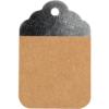 Etiquettes Kraft Brun-Argent 8.5x5.5cm