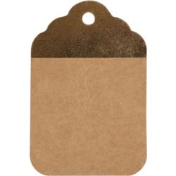 Etiquettes Kraft Brun-Or 8.5x5.5cm