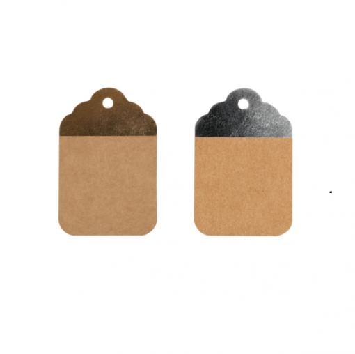 Kraft Brun-Argent ou Brun-Or 8.5x5.5cm