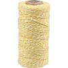 cordon coton jaune-blanc