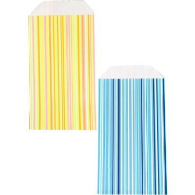 150 pièces de Sacs en Papier Stripes Choisissez votre Couleur et votre Taille