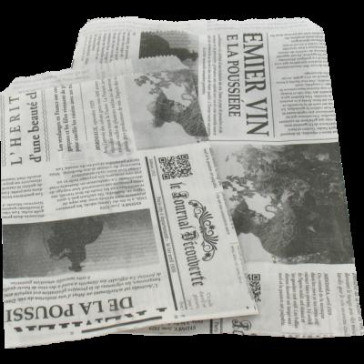 1000 pièces de Sacs en Papier Journal Français