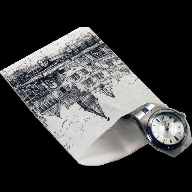 1000 pièces Sacs en Papier Façades Nostalgiques