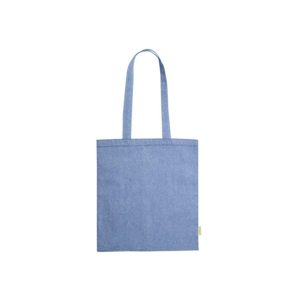 50 pièces Sac à Provisions 100% Coton Recyclé en bleu