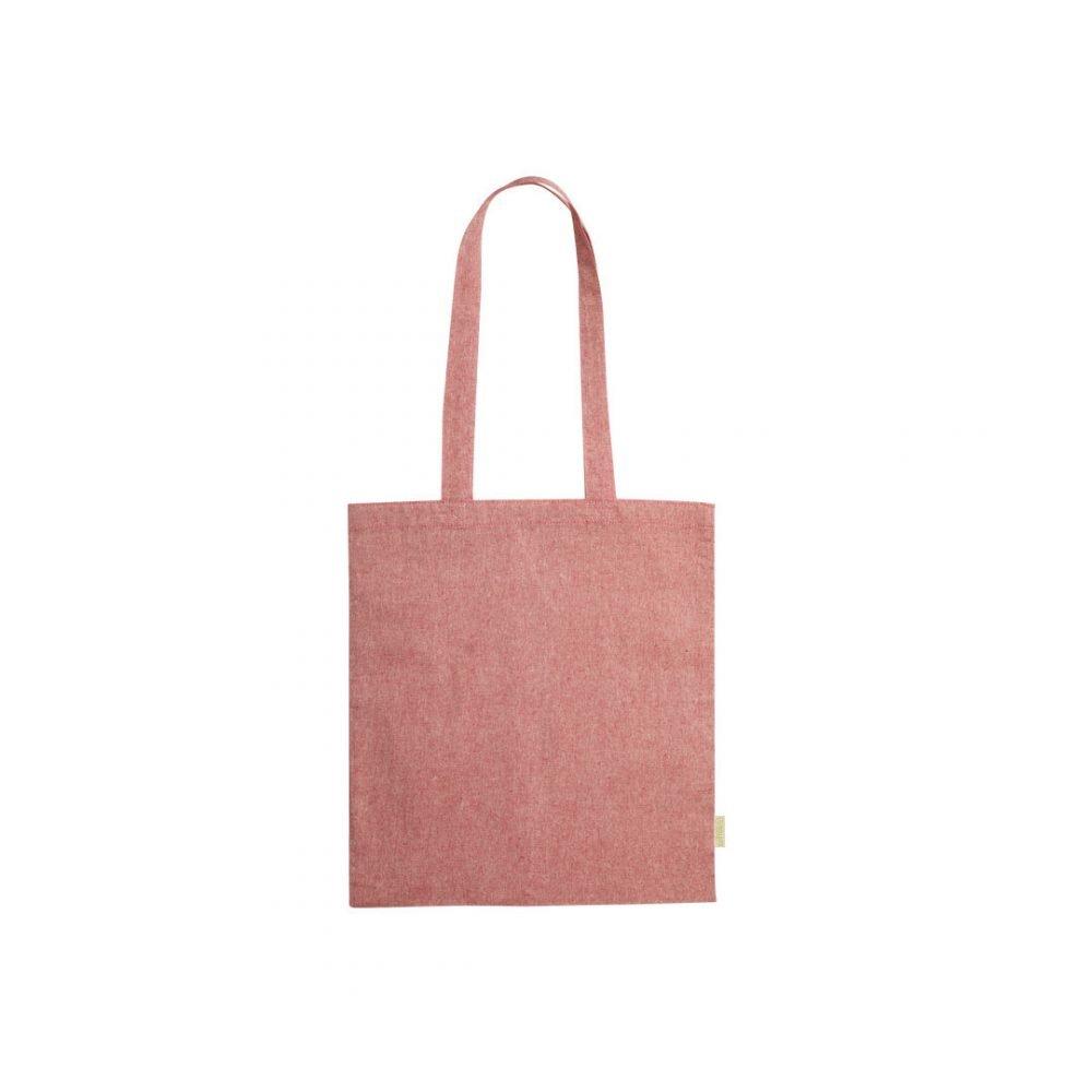 50 pièces Sac à Provisions 100% Coton Recyclé en rouge