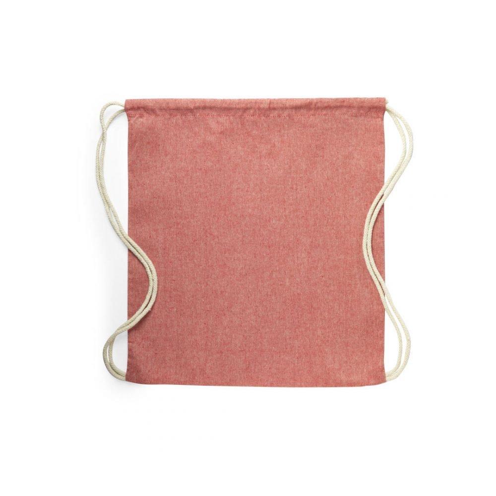 50 pièces Sacs à Dos 100% Coton Recyclé rouge