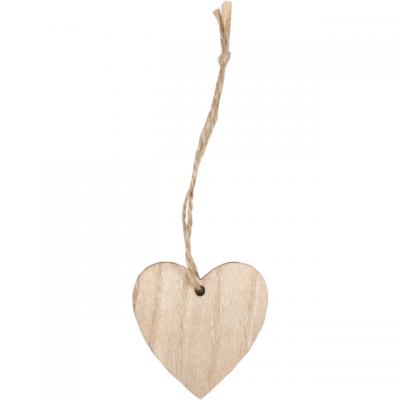 Pendentif Coeur En Bois