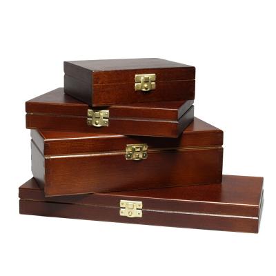Boîtes en Bois FSC Avec Couvercle A4, A5, A6 Extérieur Laqué en Noir ou Marron